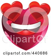 Royalty Free RF Clip Art Illustration Of An Infatuated Red Heart Character