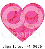Royalty Free RF Clip Art Illustration Of A Pink Circle Patterned Heart