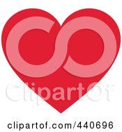 Royalty Free RF Clip Art Illustration Of A Solid Red Heart