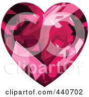 Shiny Pink Diamond Heart