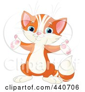 Royalty Free RF Clip Art Illustration Of A Cute Orange Kitten Holding His Arms Open