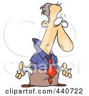 Cartoon Penniless Businessman by toonaday