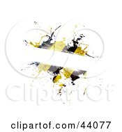Clipart Illustration Of A Grungy Hazard Stripe Text Box On White by Arena Creative #COLLC44077-0094