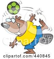 Royalty Free RF Clip Art Illustration Of A Cartoon Soccer Beaver by toonaday