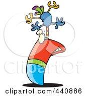 Royalty Free RF Clip Art Illustration Of A Cartoon Big Billed Toucan