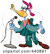 Cartoon Singing Bird