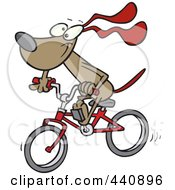 Royalty Free RF Clip Art Illustration Of A Cartoon Cycling Dog by toonaday