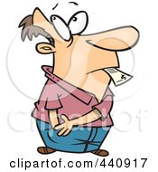Royalty Free RF Clip Art Illustration Of A Cartoon Man Reaching In His Pocket To Pay A Bill