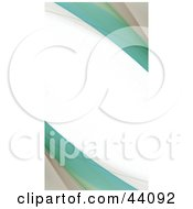 Clipart Illustration Of A Beige And Green Fractal Border With White Text Space