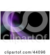 Clipart Illustration Of A Purple Fractal Wave With Green On Black