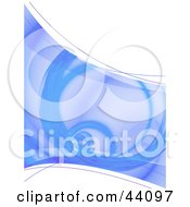 Clipart Illustration Of A Spiraling Blue Fractal Background With White Space