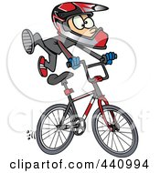Royalty Free RF Clip Art Illustration Of A Cartoon BMX Boy by toonaday