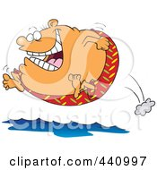 Royalty Free RF Clip Art Illustration Of A Cartoon Fat Man Jumping Into Water