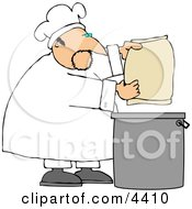 Male Bake Making Bread Clipart
