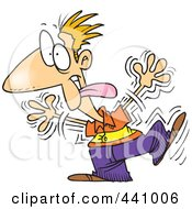Royalty Free RF Clip Art Illustration Of A Cartoon Goofy Man Shaking by toonaday
