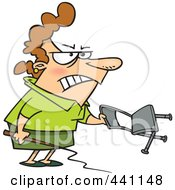 Royalty Free RF Clip Art Illustration Of A Cartoon Businesswoman Holding A Whip And Chair by toonaday