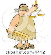Blind Justice Clipart by djart