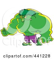 Royalty Free RF Clip Art Illustration Of A Cartoon Big Green Man