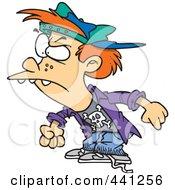 Royalty Free RF Clip Art Illustration Of A Cartoon Bully Boy by toonaday