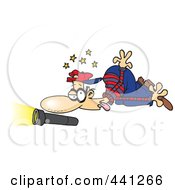 Royalty Free RF Clip Art Illustration Of A Cartoon Knocked Out Burglar by toonaday
