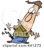 Royalty Free RF Clip Art Illustration Of A Cartoon Man With Burning Pants