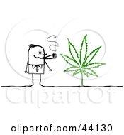 Poster, Art Print Of Stick Man Smoking Weed