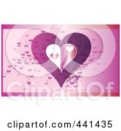 Royalty Free RF Clip Art Illustration Of An Abstract Heart Over Pink by JR