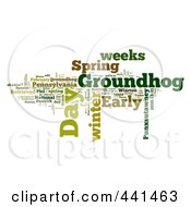 Royalty Free RF Clip Art Illustration Of A Groundhog Day Word Collage 1