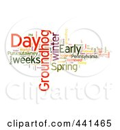 Royalty Free RF Clip Art Illustration Of A Groundhog Day Word Collage 2