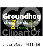 Royalty Free RF Clip Art Illustration Of A Groundhog Day Word Collage 3