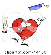 Clipart Illustration Of A Successful Graduate Character Holding A Diploma And Tossing His Cap by Hit Toon