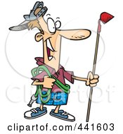 Royalty Free RF Clip Art Illustration Of A Cartoon Man Ready To Do His Gardening by toonaday