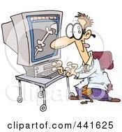 Royalty Free RF Clip Art Illustration Of A Cartoon Wacky Radiologist