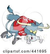 Royalty Free RF Clip Art Illustration Of A Cartoon Longhorn Bull