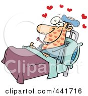 Royalty Free RF Clip Art Illustration Of A Cartoon Man With Love Sickness