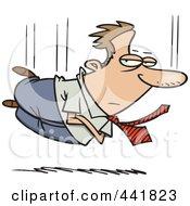 Royalty Free RF Clip Art Illustration Of A Cartoon Businessman Falling