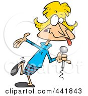 Royalty Free RF Clip Art Illustration Of A Cartoon Goofy Female Comedian by toonaday