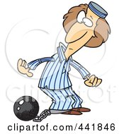 Royalty Free RF Clip Art Illustration Of A Cartoon Female Prisoner by toonaday