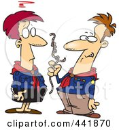 Royalty Free RF Clip Art Illustration Of Cartoon Scout Leaders Trying To Figure Out Knots