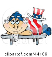 Clipart Illustration Of An American Uncle Sam Getting A Massage At A Spa