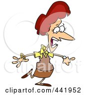 Royalty Free RF Clip Art Illustration Of A Cartoon Late Businesswoman