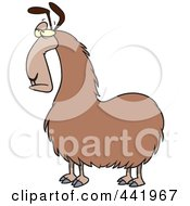 Royalty Free RF Clip Art Illustration Of A Cartoon Bored Llama by toonaday