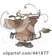 Royalty Free RF Clip Art Illustration Of A Cartoon Stinky Bull
