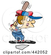 Royalty Free RF Clip Art Illustration Of A Cartoon Baseball Boy Up For Bat by toonaday