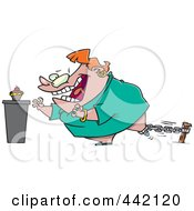 Royalty Free RF Clip Art Illustration Of A Cartoon Restrained Woman Reaching For A Cupcake by toonaday