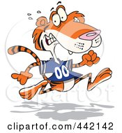 Cartoon Retreating Tiger