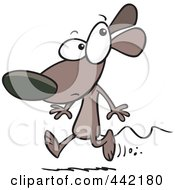 Royalty Free RF Clip Art Illustration Of A Cartoon Running Mouse by toonaday