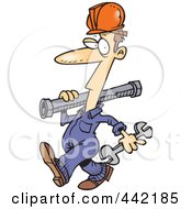 Royalty Free RF Clip Art Illustration Of A Cartoon Pipe Rigger by toonaday