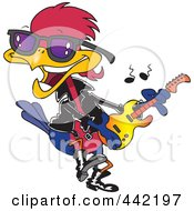 Royalty Free RF Clip Art Illustration Of A Cartoon Rocker Robin by toonaday