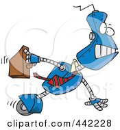 Royalty Free RF Clip Art Illustration Of A Cartoon Robot Executive by toonaday